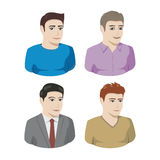 Mannelijke pictogrammen Stock Foto