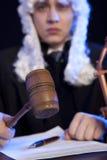 Mannelijke Rechter in een Rechtszaal stock foto