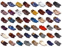 Mannelijke schoeneninzameling Royalty-vrije Stock Foto