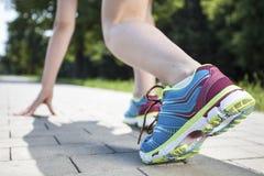 Mannelijke sprinter Stock Fotografie