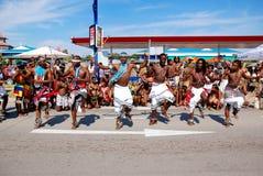 Mannelijke stammendansers Stock Foto's