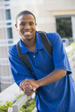 Mannelijke student buiten Royalty-vrije Stock Foto