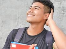 Mannelijke Student Wondering royalty-vrije stock fotografie