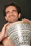 Mannelijke trommelspeler Royalty-vrije Stock Foto's