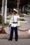 Mannelijke verkeerspolitie in DPRK (Noord-Korea) Stock Fotografie