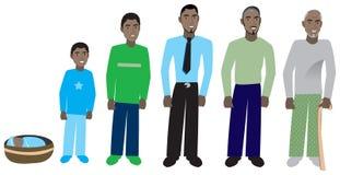 Mannelijke Vooruitgang 1 van de Leeftijd royalty-vrije illustratie