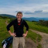 Mannelijke Wandelaar op Jane Bald stock foto's