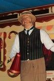Mannelijke waxwork kermisterrein/circusarbeider Royalty-vrije Stock Fotografie