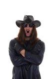 Mannen älskar heavy metal Royaltyfri Foto