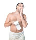 Mannen bör vara i toaletten Royaltyfri Foto
