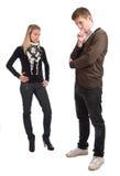 mannen en vrouwen Stock Fotografie