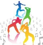 Mannen en vrouwen het dansen stock illustratie