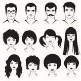 mannen en vrouwengezicht Royalty-vrije Stock Afbeelding