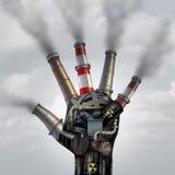 Mannen gjorde förorening Arkivfoto