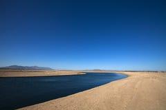 Mannen gjorde sjön i en ny utveckling Arkivbild