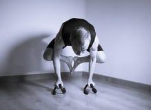 Mannen gjorde yogaasana Fotografering för Bildbyråer