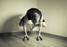 Mannen gjorde yogaasana Royaltyfri Fotografi