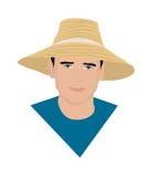 Mannen i hatten Fotografering för Bildbyråer