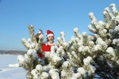 Mannen i Jultomte dräkt Arkivfoton