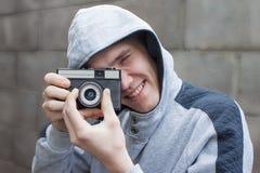 Mannen med kameran Arkivfoton