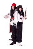 mannen piratkopierar kvinnan Royaltyfri Bild