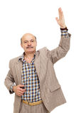 Mannen röstar och gör ett val Royaltyfria Bilder