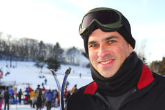 mannen skidar Royaltyfri Fotografi