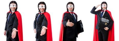 Mannen som bär röda kläder i roligt begrepp Royaltyfria Bilder