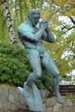 Mannen som ber skulptur i Millesgarden, Stockholm Royaltyfri Foto
