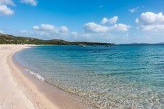 MANNENA zatoka, SARDINIA/ITALY - MAJ 21: Mannena zatoka w Sardinia o Obraz Royalty Free