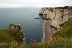 The Manneporte at Étretat. royalty free stock images
