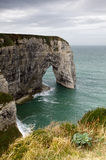 Manneporte at Etretat Royalty Free Stock Images