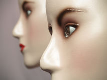 Mannequin. Twin mannequin face. Common display for fashion industry stock photos