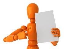 Mannequin arancione Fotografie Stock
