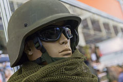 Mannequin in an army helmet Stock Photography