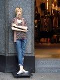 Mannequin auf der Straße Lizenzfreies Stockfoto