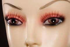 Mannequin-Augen Stockbild