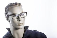 Mannequin avec des verres Photos stock