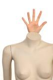Mannequin avec une main Photographie stock libre de droits