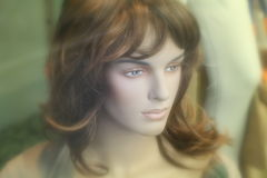 Mannequin beauty on a shop Royalty Free Stock Photo