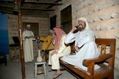Mannequin Belonger (bédouin) Musée de Dubaï, Emirats Arabes Unis images stock