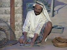 Mannequin Belonger (Bedouin). Dubai museum, United Arab Emirates Royalty Free Stock Photos