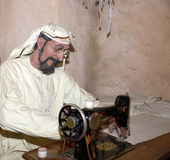 Mannequin Belonger (beduin) Dubaj muzeum, Zjednoczone Emiraty Arabskie Obrazy Royalty Free