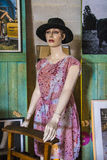 Mannequin. With black hat Royalty Free Stock Photos