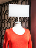 Mannequin and blank sign Royalty Free Stock Photos