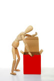 Mannequin and box Royalty Free Stock Image