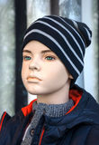 Mannequin - Boy in winter clothes Royalty Free Stock Photo