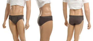 Mannequin with brief Stock Image