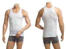 Mannequin with brief and vest Royalty Free Stock Photos
