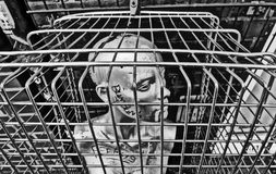Mannequin in Cage Royalty Free Stock Photos